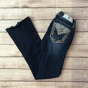 Miss Me Dazzled Design Boot Cut Jeans Size 10